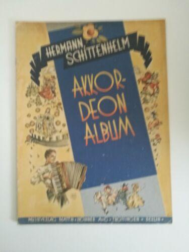 Noten. Schittenhelm, Akkordeon-Album.