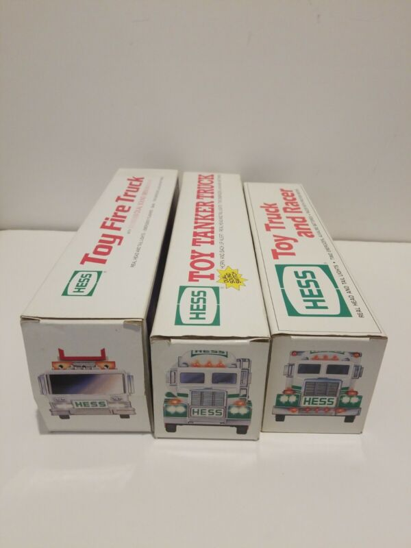 Hess Truck Toy Truck Lot Of 3 1989 1990 1991 Complete New