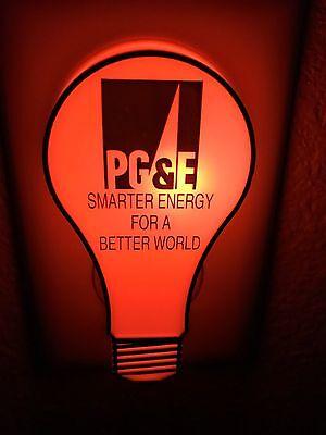 PG & E Advertising Night Light  Smarter Energy for a Better World