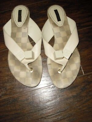 "Louis Vuitton AZUR Damier ""dice"" Sandals FLIP FLOPS Shoes 40euro RARE"