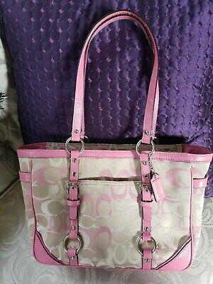 Coach Signature Canvas Tote Handbag