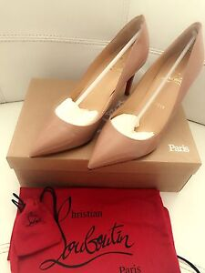 Christian Louboutin Pigalle 85 nude patent leather size 37 West Melbourne Melbourne City Preview