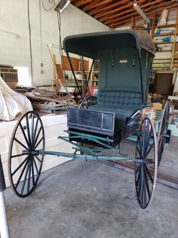 Antique Doctors Buggy with harness and staves