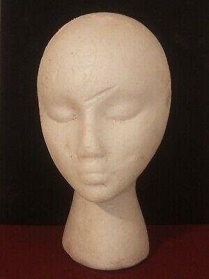 Styrofoam Mannequin Female Head Model Wig Glasses Hat Display Stand Hobby Lobby