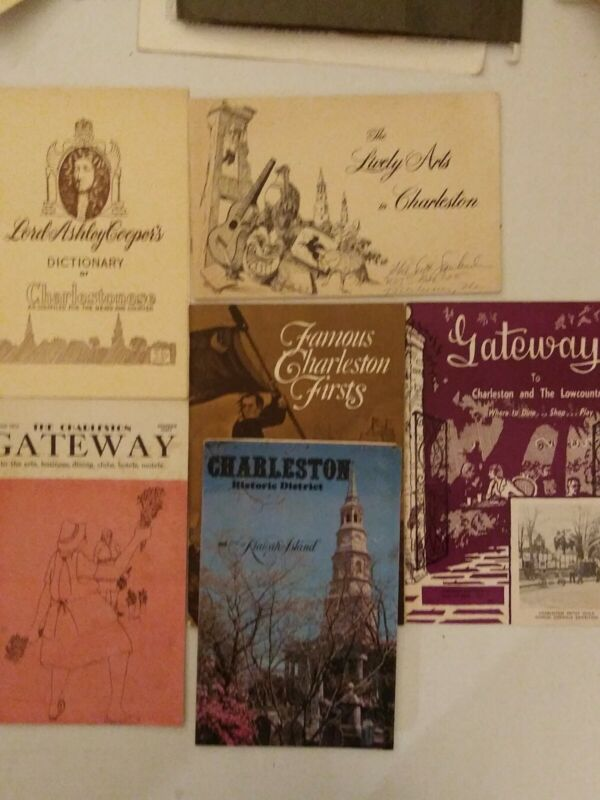 "CHARLESTON HISTORY 6 PAPERBACK VTG HISTORY""GATEWAY"" FAMOUS CHARLESTONS FIRST!+++"