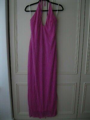 Jessica McClintock women's prom/evening dress. Halterneck. Simmering Pink. Size