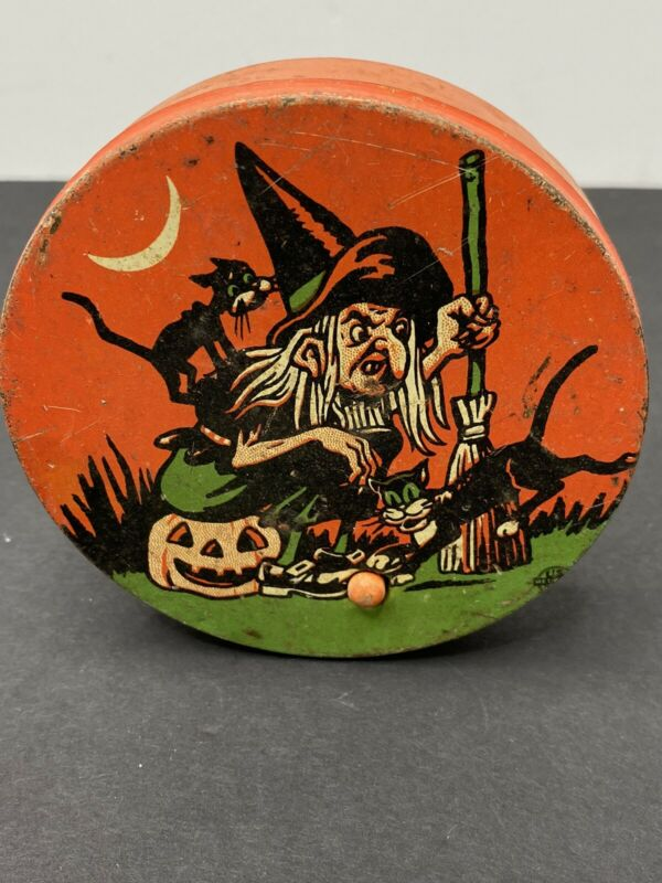 Antique Vintage Halloween Noise Maker U. S. Metal Toy Manufacturing Company