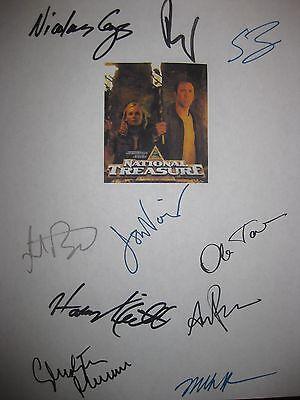 National Treasure Signed Film Script X10 Nicolas Cage Diane Kruger Sean Bean RPT