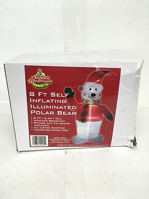 Blow Up Yard Decorations (Santa's Boutique Christmas Blow-Up Yard Decorations, Polar Bear with)