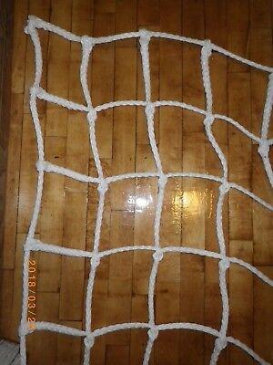 """1/2"""" Playground Climbing CARGO NET Rope Play Ladder Ninja Training 10 x 3 White"""