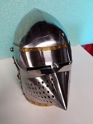 Gothic Knight Armor Solid Steel Medieval Helmet  (Knight Helmets)