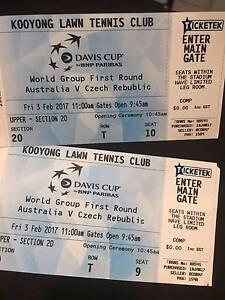 2x Davis Cup Day One Australia vs Czech Republic Maribyrnong Maribyrnong Area Preview