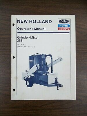 New Holland 358 Grinder-mixer Owners Manual