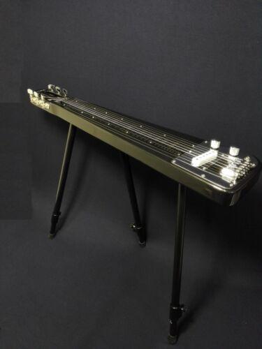 Haze Solid Body Electric LAP Steel Guitar,Metallic Black+Glass Tone Bar. LT 1920