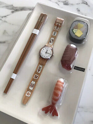 Swatch Watch - HORS D' OEUVRE - GF112pack - New In Special Packaging - SUSHI
