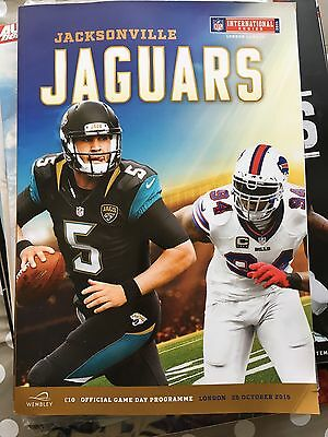 JACKSONVILLE JAGUARS v BUFFALO BILLS NFL WEMBLEY 2015 PROGRAMME PROGRAM