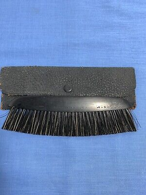 Vintage French Ebony Wood Clothes Brush And Original Case Rare S L & Co.
