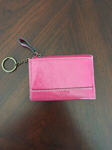 Coach change purse and card holder with key ring