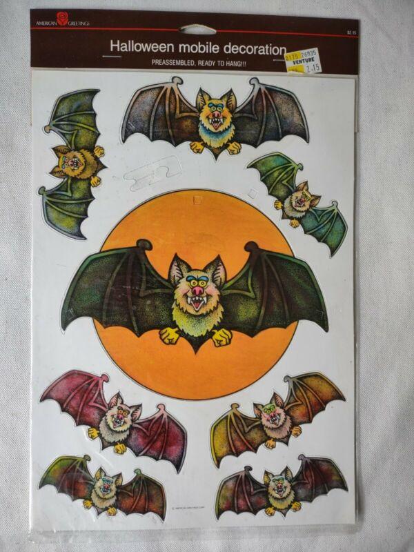 VTG NOS 1986 Halloween Bat Mobile Die-Cut Decoration American Greetings RARE!