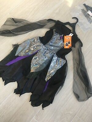 k Swan Costume With Mask Aged 7/8 yrs NEW Scary Dress Up (Black Swan Dress Up Halloween)