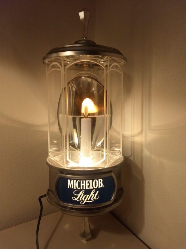Vintage Bar Michelob Beer Lamp Light Wall Sconce Lantern Sign Advertising Works
