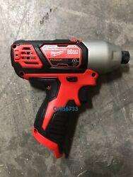 Milwaukee Hex impact driver 2462-20 1/4 M12 12V Lithium-ion