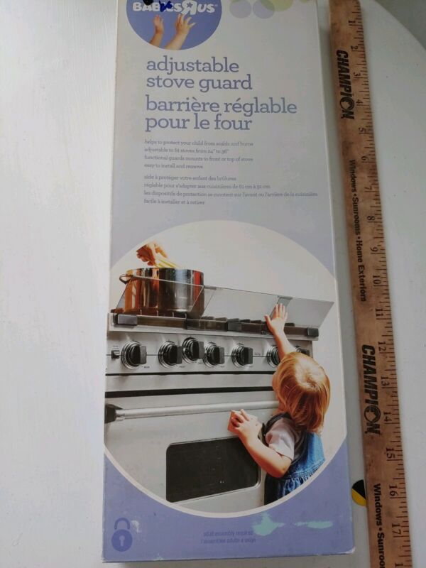 Babies R Us Adjustable Stove Guard Home Safety Adjusts From 24 in to 36 in