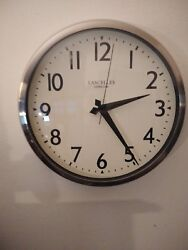 Lascelles London Large Metal with stainless steel  12 Wall Clock