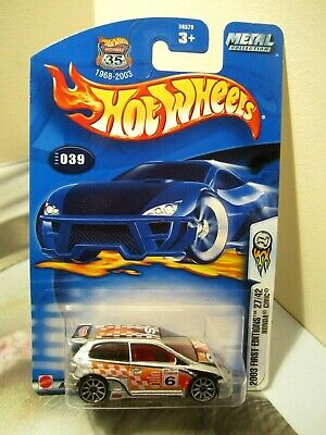 Hot Wheels 35th 1:64 2003 Collector # 039 First Editions Honda Civic