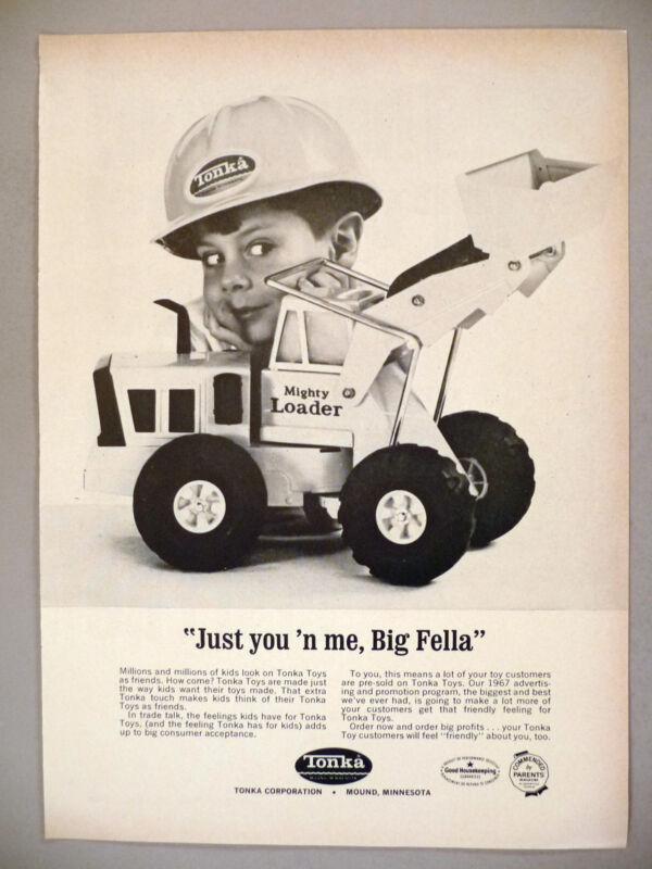 Tonka Mighty Loader Truck PRINT AD - 1967 ~ toy, toys