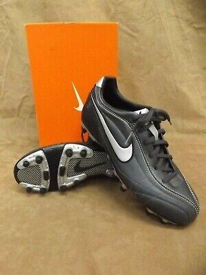 8e1e82823 NEW NOS Nike Silver Black Tiempo Mystic FG Soccer Sport Cleats Shoes Women  7.5