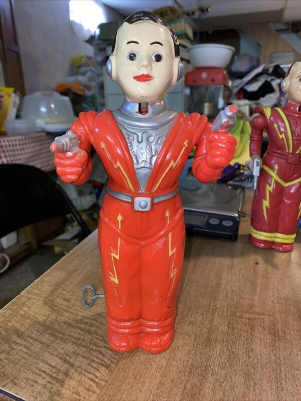 Vintage 1950s IRWIN MAN From Mars Wind-up Spaceman Working No Helmet