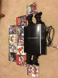 PS3 - Console and 4 Controllers