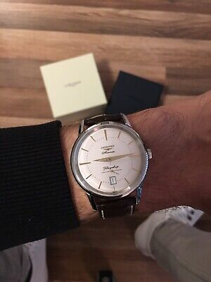 Longines Flagship Heritage Automatic Wrist Watch w Box & Manual - L4.795.4.78.2