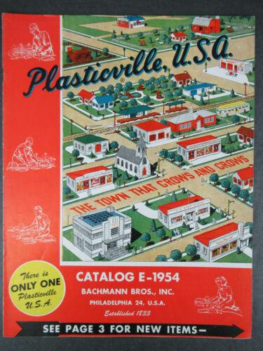 VINTAGE 1954 PLASTICVILLE CATALOG E-1954 BACHMANN BROS. OSS OF LOCAL DISTRIBUTOR