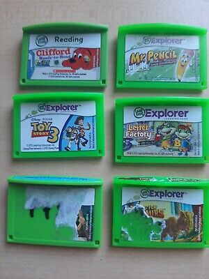 LeapFrog Explorer Lot of Game Cartridges - Clifford, Letter Factory, Toy Story