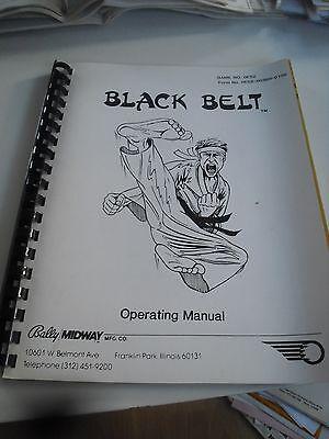 Englische Anleitung mit Schaltplänen für Bally Flipper Black Belt