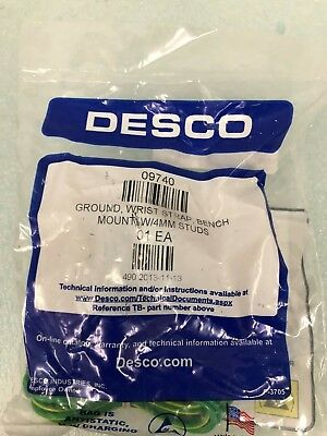 DESCO 09740 GROUND WRIST STRAP BENCH MOUNT W-4MM STUDS