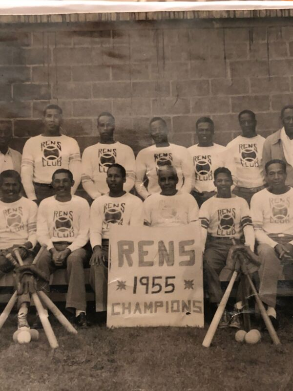 1955~ All African American Baseball Team~ HARLEM RENs ~Original Black Americana