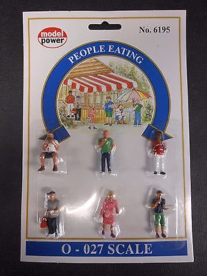Model Power O Scale People Eating Pack  6 Figures    Mp6195