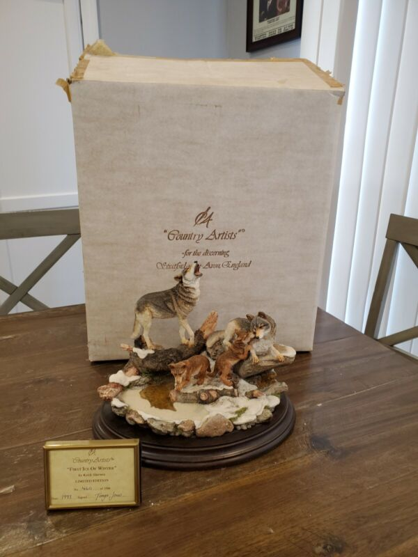 Country Artists First Ice Of Winter Wolf Family Figurine LTD to 3500 MINT w/ box