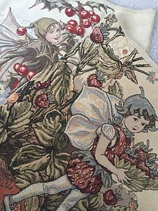 Vintage Embroidered Flemish Faery pillowcases
