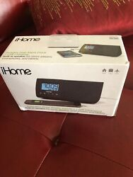 iHome iHM46BC Portable Dual Alarm Clock With USB Charging Built-In Speaker BLACK