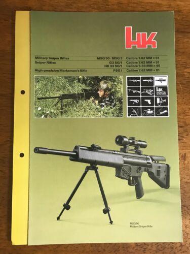 Heckler & Koch, H&K, HK Rifle Systems Cut Sheet