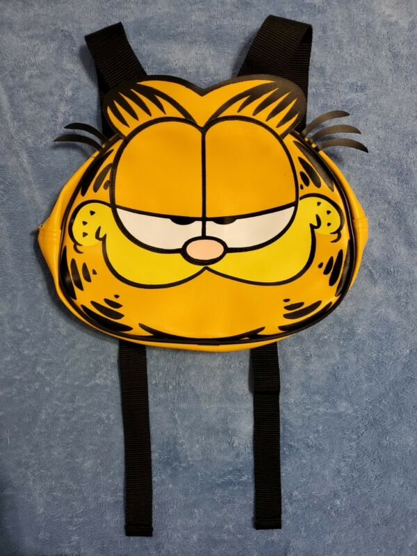 Vintage Garfield Face Backpack Bag 1978 Paws