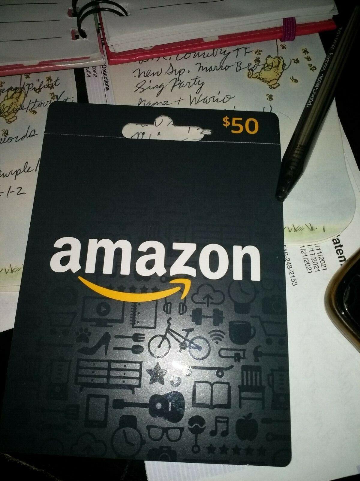 Amazon 50 Gift Card - $50.00