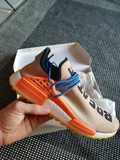 Adidas x Pharrell NMD Human Race HU Trail, Nude Tan, 11US, DS