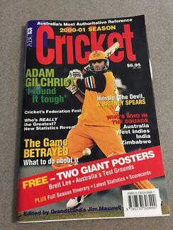 Cricket Memorabilia. *****2001 season
