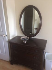 Gibbard Dresser with Oval Mirror  mahogany solid wood