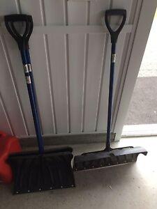 Shovels and scrapper